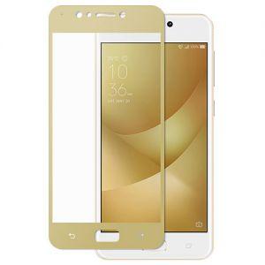 Защитное стекло для ASUS ZenFone 4 Max ZC520KL [на весь экран] (золотистое)