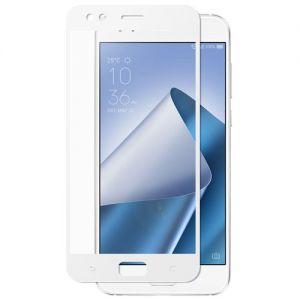 Защитное стекло для ASUS ZenFone 4 ZE554KL [на весь экран] (белое)