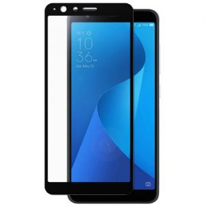 Защитное стекло для ASUS ZenFone Max Plus (M1) ZB570TL [на весь экран] (черное)