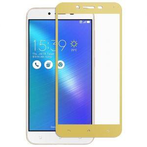 Защитное стекло для ASUS ZenFone 3 Max ZC553KL [на весь экран] (золотистое)