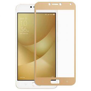 Защитное стекло для ASUS ZenFone 4 Max ZC554KL [на весь экран] (золотистое)