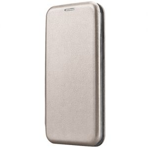 Чехол-книжка кожаный для Huawei Honor 7X (серый) Book Case Fashion