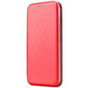 Чехол-книжка кожаный для Huawei Honor 7X (красный) Book Case Fashion