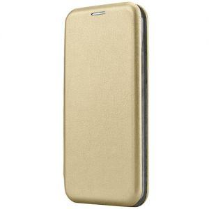 Чехол-книжка кожаный для Huawei Honor 7C (золотистый) Book Case Fashion
