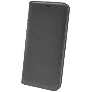 Чехол-книжка кожаный для Huawei Y5 Prime (2018) (черный) Book Case New