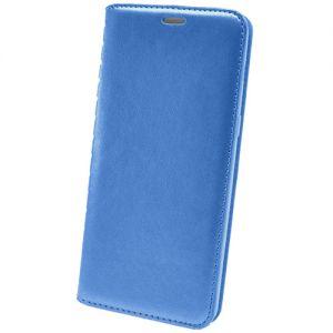 Чехол-книжка кожаный для Huawei P20 Lite (синий) Book Case New