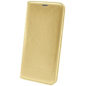 Чехол-книжка кожаный для Huawei Honor 7C (золотистый) Book Case New