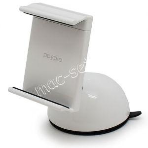 Автодержатель для телефона на стекло / приборную панель Ppyple Dash-N5 раздвижной (белый)