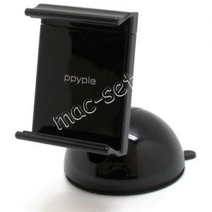 Автодержатель для телефона на стекло / приборную панель Ppyple Dash-N5 раздвижной (черный)