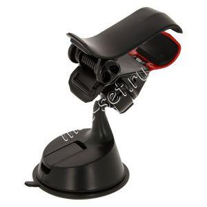 Автодержатель для телефона на стекло / приборную панель Red Line One Hand прищепка (черный)
