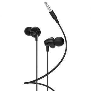 Гарнитура Hoco M60 Perfect sound внутриканальная (черная) с микрофоном