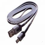 Дата-кабель microUSB 1 метр [плоский] (черный)