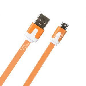 Дата-кабель microUSB 1м [плоский] Red Line Lite (оранжевый)