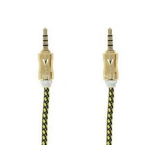 Кабель аудио Jack 3.5 (M) - Jack 3.5 (M) 1 метр [плетеный] (желтый)