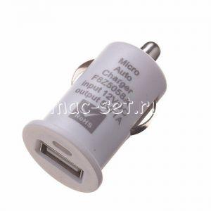 Автомобильное зарядное устройство USB 1000mA (белое)