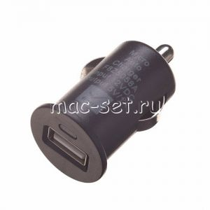 Автомобильное зарядное устройство USB 1000mA (черное)