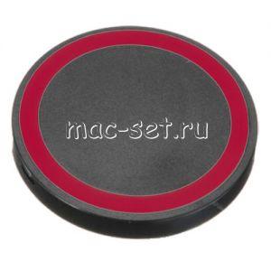 Беспроводное зарядное устройство универсальное [круглое] (черное с красным)