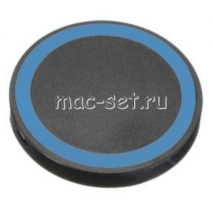 Беспроводное зарядное устройство универсальное [круглое] (черное с синим)