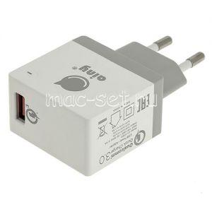 Сетевое зарядное устройство 1xUSB 3000mA Ainy EA-038B Quick Сharge (белое)