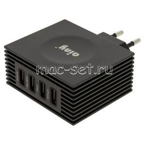 Сетевое зарядное устройство 4xUSB 4200mA Ainy EA-034H (черное)