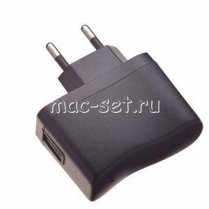 Сетевое зарядное устройство USB универсальное 500mA (черное)