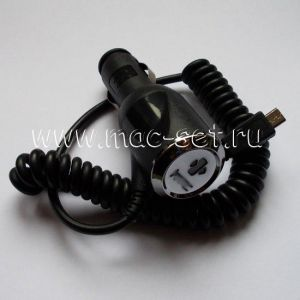 Автомобильное зарядное устройство HTC microUSB 2000mA (черное)