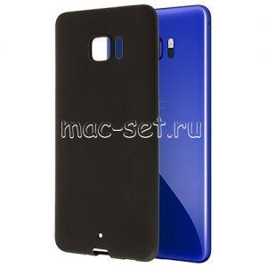 Чехол-накладка силиконовый для HTC U Ultra (черный 0.8мм)