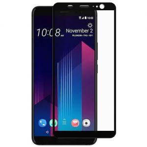 Защитное стекло для HTC U11+ [на весь экран] (черное)