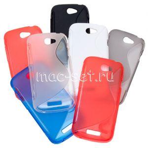"""Чехол-накладка силиконовый """"S-Line"""" для HTC One S"""