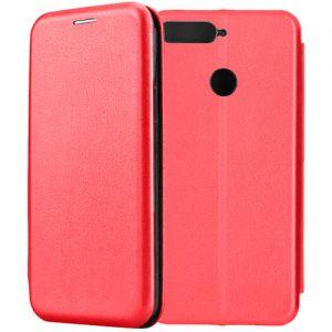 Чехол-книжка кожаный для Huawei Honor 7C (красный) Book Case Fashion