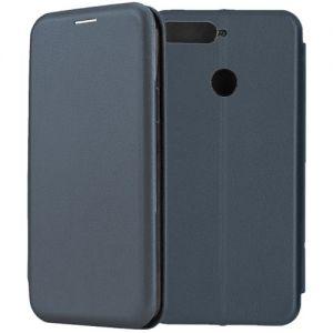 Чехол-книжка кожаный для Huawei Honor 7C (синий) Book Case Fashion