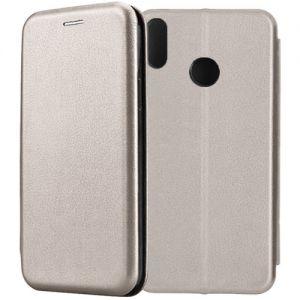 Чехол-книжка кожаный для Huawei Honor 8X (серый) Book Case Fashion