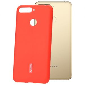 Чехол-накладка силиконовый для Huawei Honor 7C (красный) Cherry