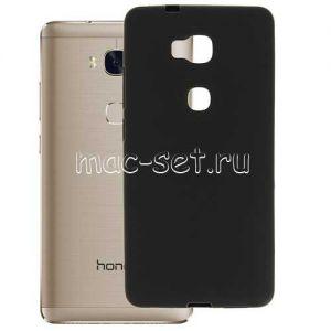 Чехол-накладка силиконовый для Huawei Honor 5X (черный 0.8мм)