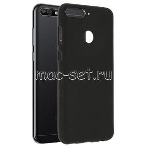 Чехол-накладка силиконовый для Huawei Honor 7A Pro (черный 0.8мм)