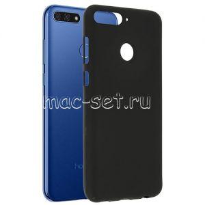 Чехол-накладка силиконовый для Huawei Honor 7C (черный 0.8мм)