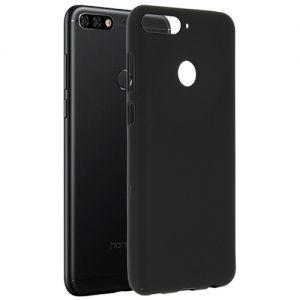 Чехол-накладка силиконовый для Huawei Honor 7C Pro (черный 0.8мм)