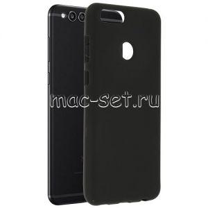 Чехол-накладка силиконовый для Huawei Honor 7X (черный 0.8мм)