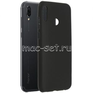 Чехол-накладка силиконовый для Huawei Honor Play (черный 0.8мм)