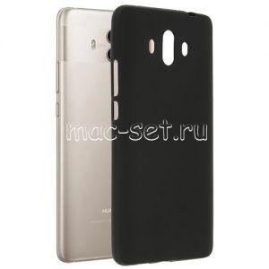 Чехол-накладка силиконовый для Huawei Mate 10 (черный 0.8мм)