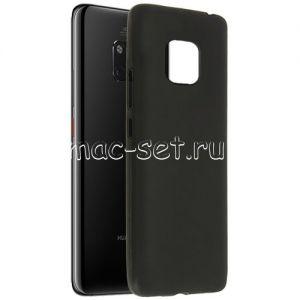 Чехол-накладка силиконовый для Huawei Mate 20 Pro (черный 0.8мм)