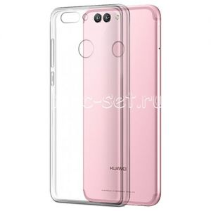 Чехол-накладка силиконовый для Huawei Nova 2 [толщина 0.5 мм] (прозрачный)