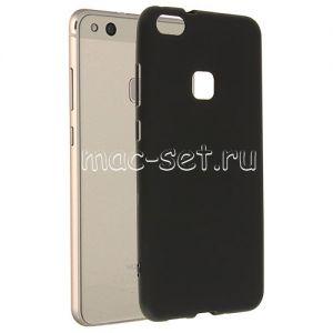 Чехол-накладка силиконовый для Huawei P10 Lite (черный 0.8мм)