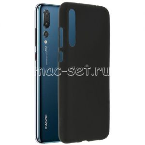 Чехол-накладка силиконовый для Huawei P20 Pro (черный 0.8мм)