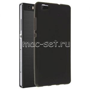Чехол-накладка силиконовый для Huawei P8 Lite (черный 0.8мм)