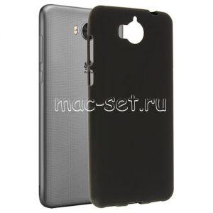 Чехол-накладка силиконовый для Huawei Y5 (2017) / Y6 (2017) (черный 0.8мм)