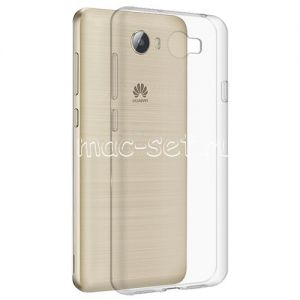Чехол-накладка силиконовый для Huawei Y5 II / Honor 5A [толщина 0.5 мм] (прозрачный)