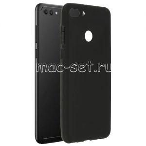 Чехол-накладка силиконовый для Huawei Y9 (2018) (черный 0.8мм)