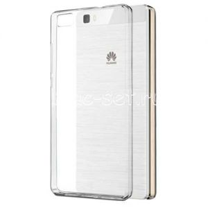 Чехол-накладка силиконовый для Huawei P8 Lite (прозрачный 0.3мм)