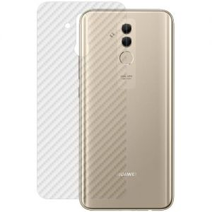 Защитная наклейка для Huawei Mate 20 Lite карбон [задняя] (прозрачная)